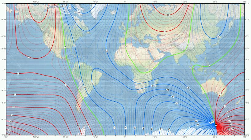 US/UK World Magnetic Model - Epoch 2015.0
